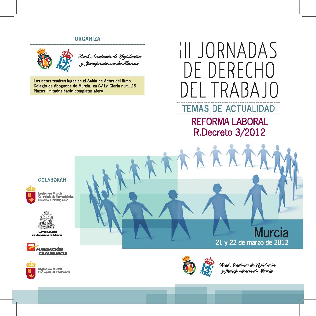 Cartel III Jornadas Murcia